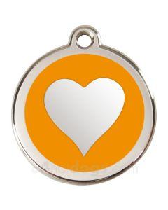 Hjerte Large-Orange