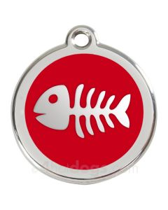 Fiskeben large-Rød