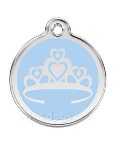 Prinsessekrone large-Lyseblå