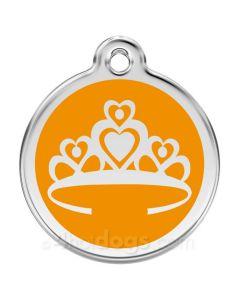 Prinsessekrone large-Orange