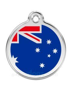 Hundetegn Australske flag medium