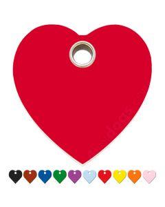 Hundetegn Hjerte large 10 forskellige farver