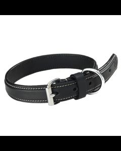 Hundehalsbånd Sort i læder